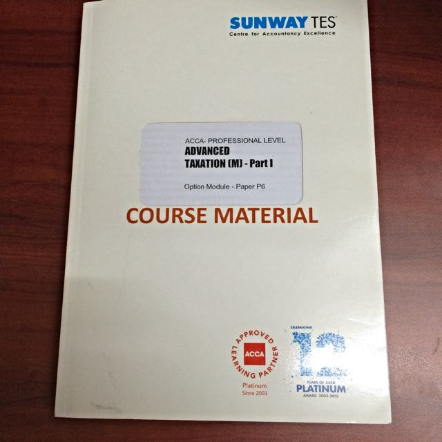 ACCA P6 Textbook (reserved)