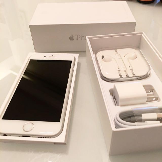 Apple iPhone 6 128G 銀色 9.9成新,保固中,僅用過幾天。