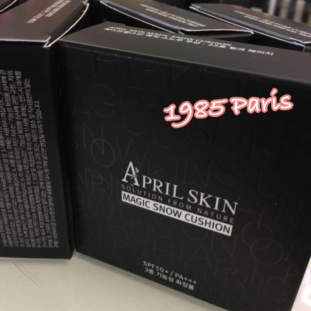 現貨超強遮瑕APRIL SKIN--魔法石雪白氣墊粉餅15g.100%韓國空運
