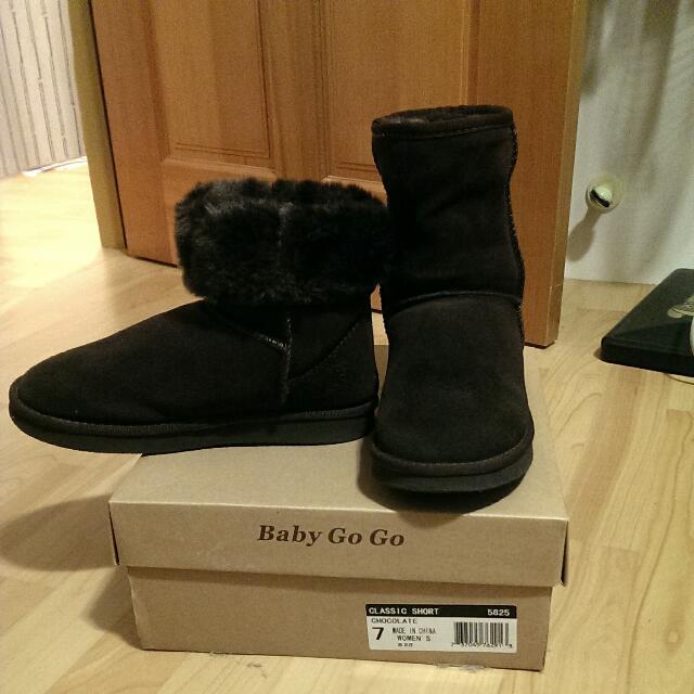 BGG中筒雪靴 巧克力色 7號