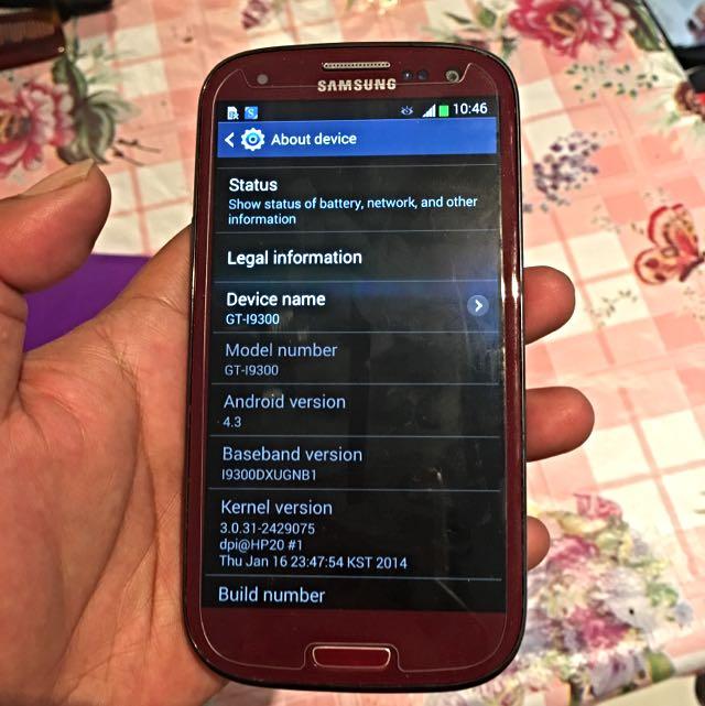 Garnet Red Samsung Galaxy S3