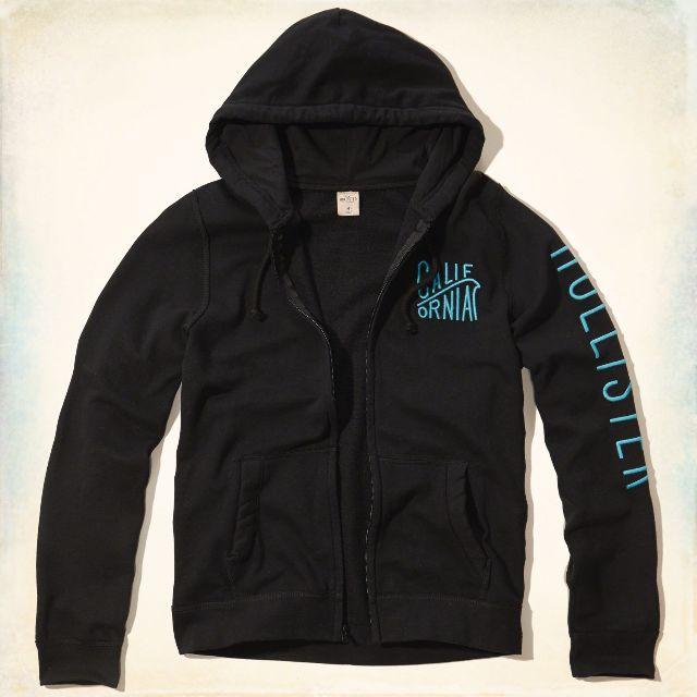 {型鹿}[現貨]HCO Sleeve Logo Fullzip Hoodie 深藍色側字刺繡刷毛連帽外套Size:S*1