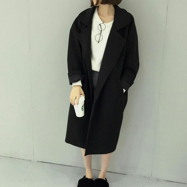 HL#韓系翻領大衣外套