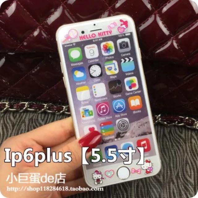 Iphone6plus卡通玻璃貼