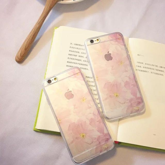 iPhone 6/6plus 手機殼 透明感花朵款 手機也要穿新衣