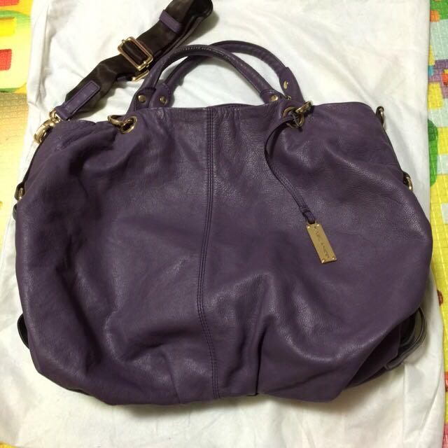 RABEANCO牛皮包(紫)