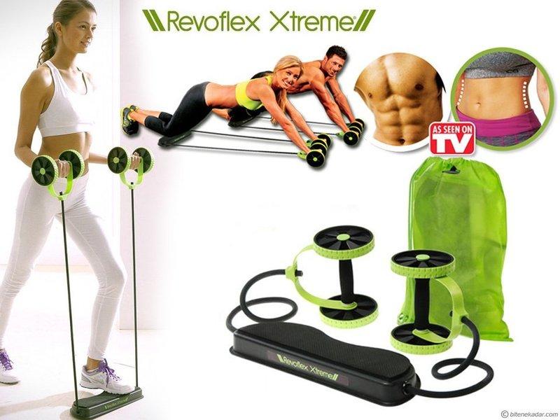 Revoflex Xtreme 雙輪健腹拉力器 塑腰緊腹美體瘦身器//健身/瘦身/腹肌/胸肌/人魚線/馬甲線