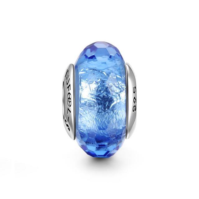 郵寄免運☆正品現貨☆SOUFEEL 索菲爾 925純銀串珠 深藍冰晶 琉璃 Pandora適用