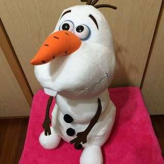 日本 冰雪奇緣 大雪寶絨毛娃娃