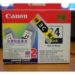 [售] CANON 原廠墨水匣 BCI-24 黑色彩色各一顆,再送4*6相片紙3包