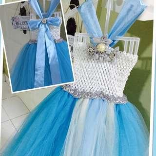 Handmade Frozen/Cinderella Themed Tutu Dress
