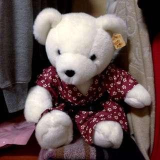 白色熊熊 全新 吊牌還在