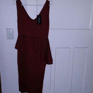 Midi Peplum Dress