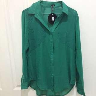 Dollygirl Green Long Sleeve Blouse