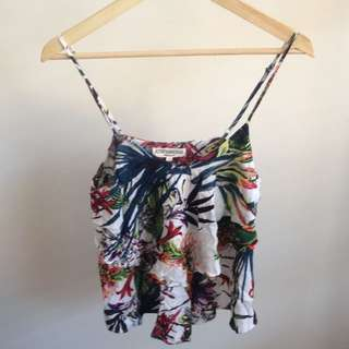 Floral High Cut Top