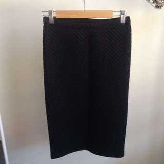 Topshop Fitted 3/4 Skirt