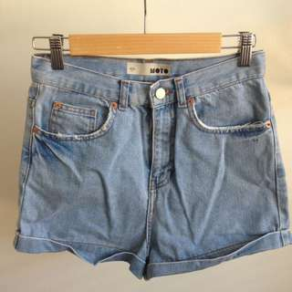 Top shop High Waist Denim Shorts