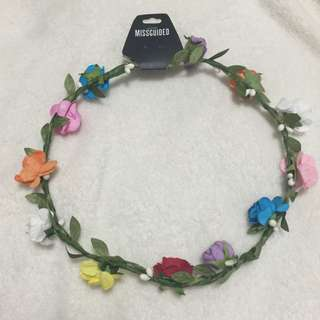 Brand New Missguided Floral Headband