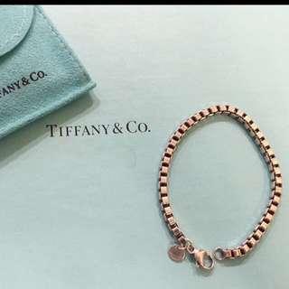 保留中~Tiffany 9成新/ 威尼斯手鏈/ 925純銀/ 超低價出售