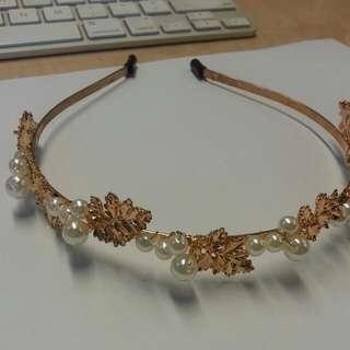 Gold Pearl Hairband