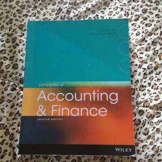 Principles Of Accounting & Finance Second Edition