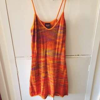 Orange Knit Dress | Size 8