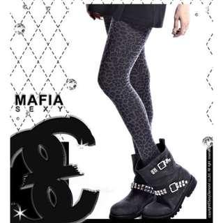 🚚 豹紋亮粉褲襪