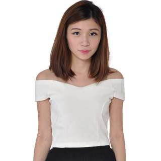 Carrislabelle Sweetheart Off Shoulder Top (WHITE)