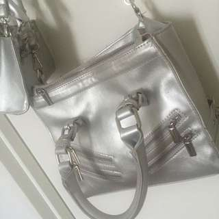 Outer Space Silver Bag
