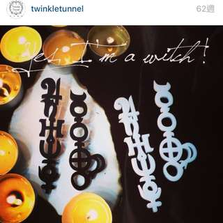 Twinkle Tunnel耳環 黑色
