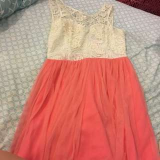 Pretty Lace Top Dress - Size 10