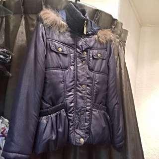 歐洲時尚藍鋪棉外套