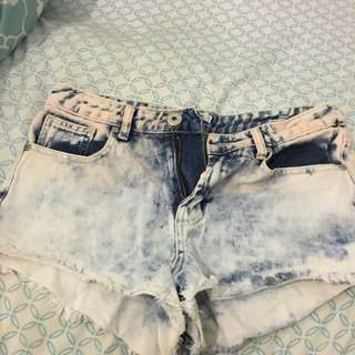 Washed Denim Shorts - Size 10
