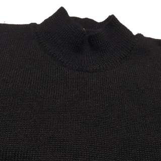 《gooddo•古著》日本半高領黑色素面毛衣