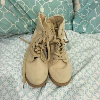Light Brown Boots - Size 7