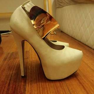 Heels With Gold Ankle Cuff