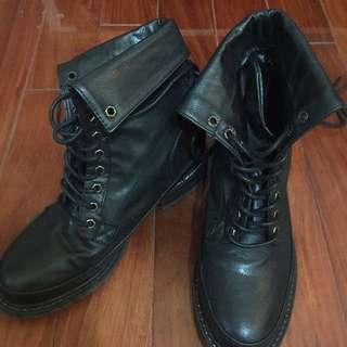 (待付款)Air Space 黑靴子 24cm