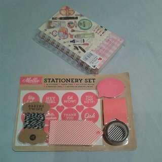 Brand New Note Book With Stationery Set