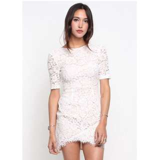 BNWT Shopsupergurl's Lace But Not Least V-Back Dress in White