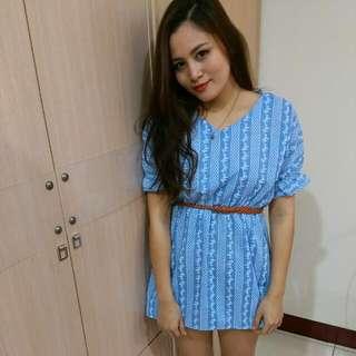 天使藍洋裝