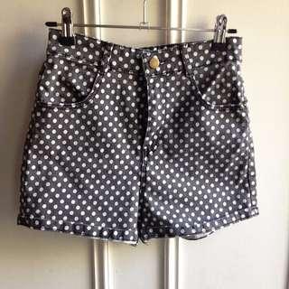 High Waist Hot Pants polka dot Stretchy fit Aus 6-8