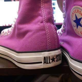 Converse 高筒紫色 男段 UK 9號