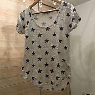 [二手]美國 Cotton On 藍白星星上衣 T衫