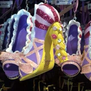 美國迪士尼 長法公主 樂佩 高跟鞋 吊飾 公仔 收藏品