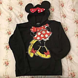 [二手]正品:美國迪斯耐樂園購買超可愛米妮黑色帽T