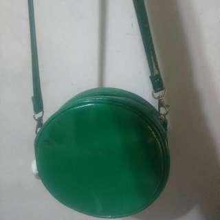 (保留)綠色小圓包