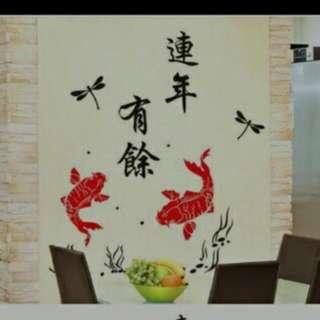 中國風壁貼