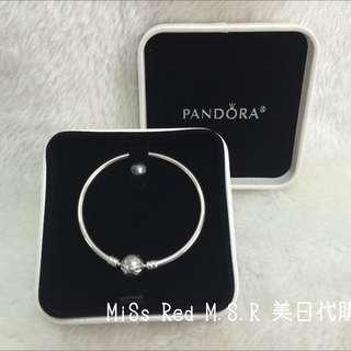 Pandora 限量 蝴蝶結硬環 手環 和盒子 現貨