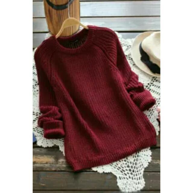 ❕任選2件900❕韓版顯瘦素色針織毛衣 4色