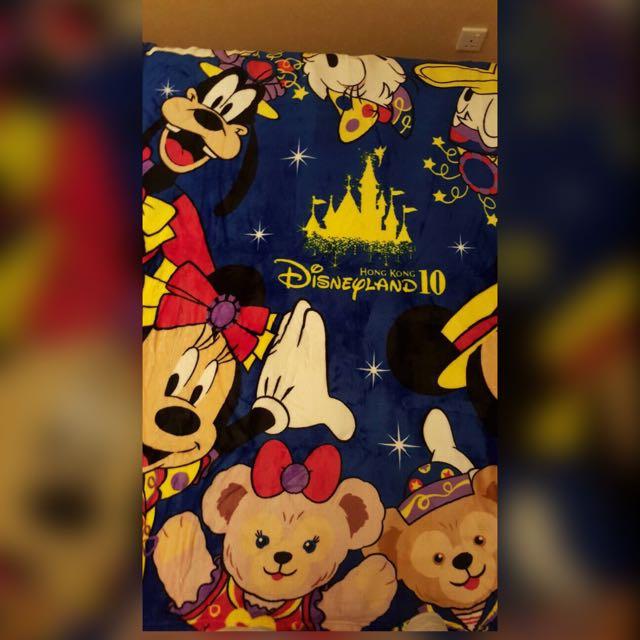 香港迪士尼十週年限定毛毯